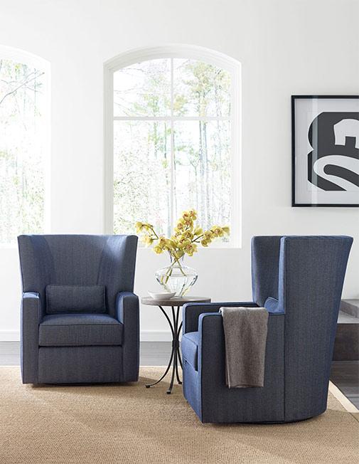 Super Fitzgerald Swivel Chair By Kincaid Living Room Furniture Uwap Interior Chair Design Uwaporg