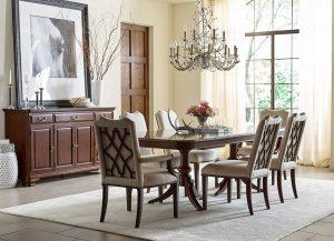 Hadleigh Double Pedestal Table by Kincaid