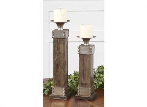 Lican Candleholders by Uttermost