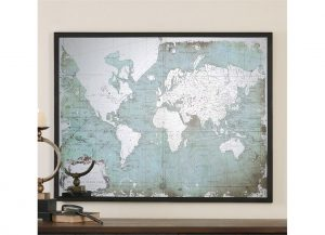 Mirrored World Map by Uttermost