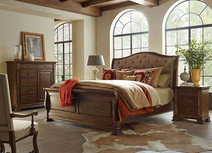Portolone Upholstered Bed by Kincaid Bedroom Furniture ...