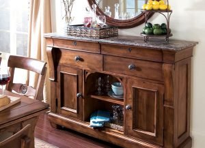 Tuscano Sideboard with Marble Top by Kincaid Chattanooga Dining Room Furniture