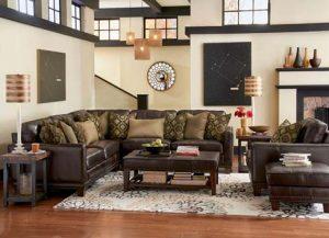 sectional leather sofa Flexsteel