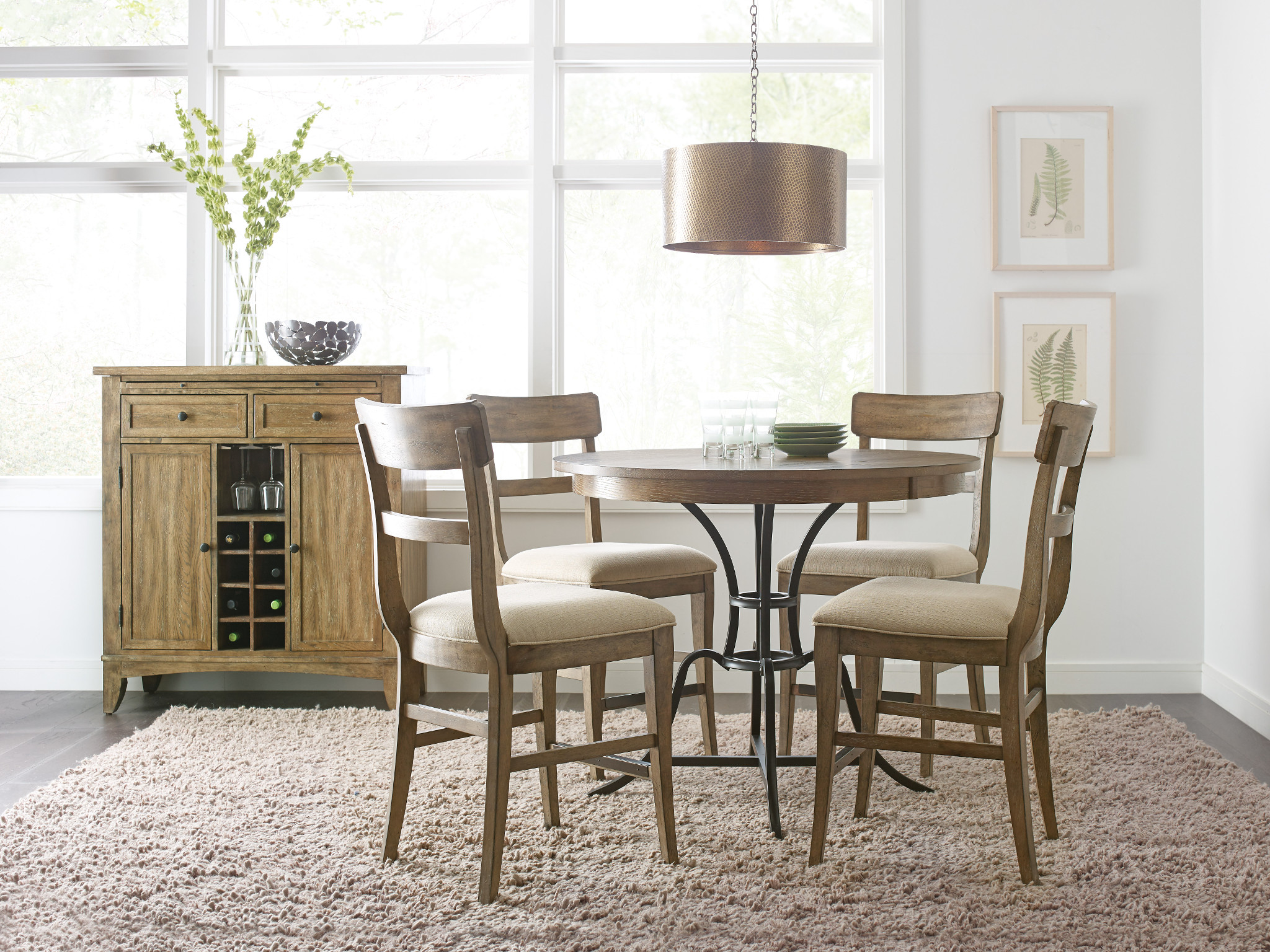 Chattanooga Kitchen Table Ideas Kincaid counter height table from EF Brannon Furniture store in Chattanooga TN