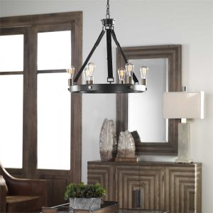 Find this leather lighting fixture at our Chattanooga furniture store