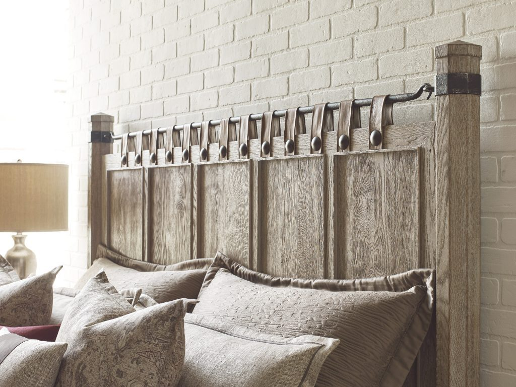 Furniture Sales Chattanooga TN: What a gorgeous head for a bed with leather straps!