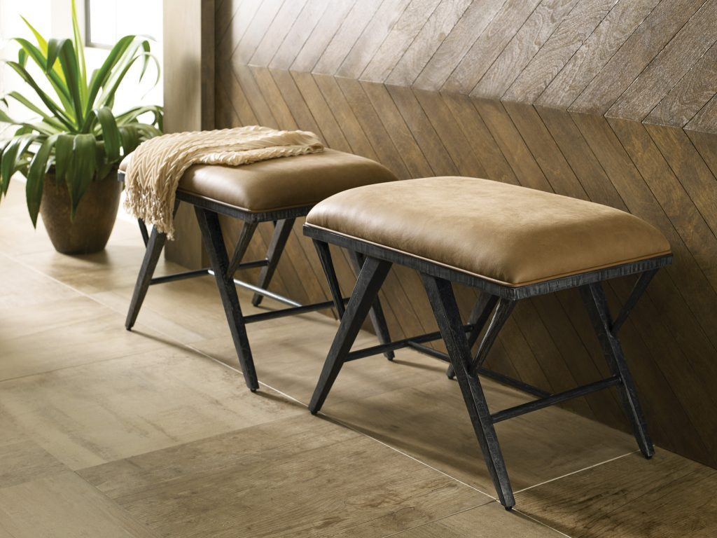 Accent leather Ottomans from Kincaid at our furniture stores in Chattanooga