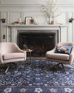 Play with color and pattern with this gorgeous blue rug, an amazing accessory that will tie together any room decor.
