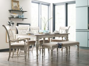 Spruce up your Chattanooga dining room with this rustic and refined set from the Kincaid Weatherford collection.