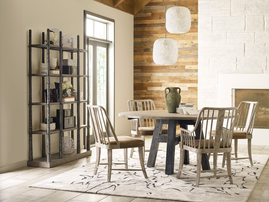 Update your Chattanooga TN dining room vibe with this inspired-by-nature Trails collection dining room set by Kincaid.