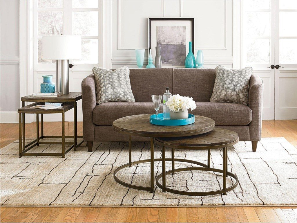 Add interest to your Chattanooga living room with this unique and functional set of nesting tables from Hammary.