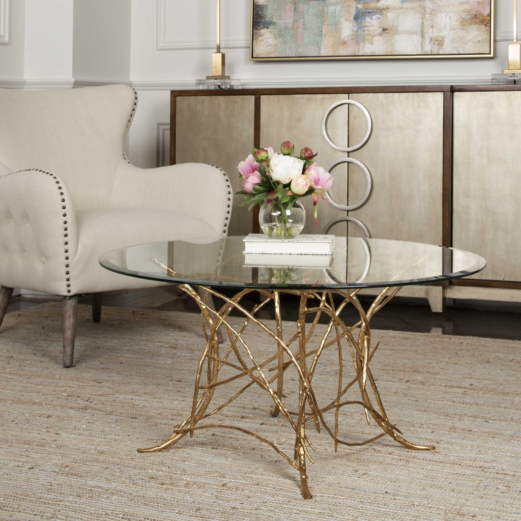 Make a statement with this beautiful and unique Uttermost coffee table for your Chattanooga living room.