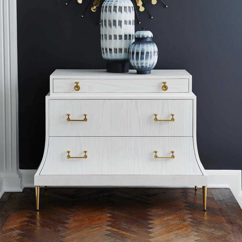 The Uttermost Mansard chest is a stunning choice to glam up any Chattanooga bedroom.