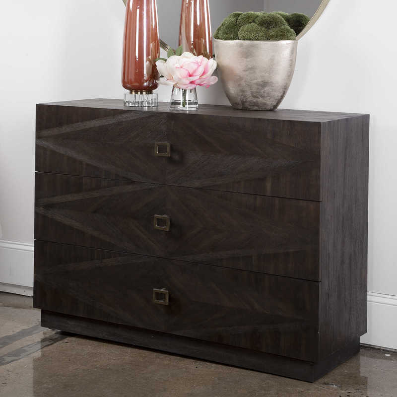Spruce up your Chattanooga bedroom furniture with the addition of the Uttermost Maverick chest, a great alternative to a classic bedside table.