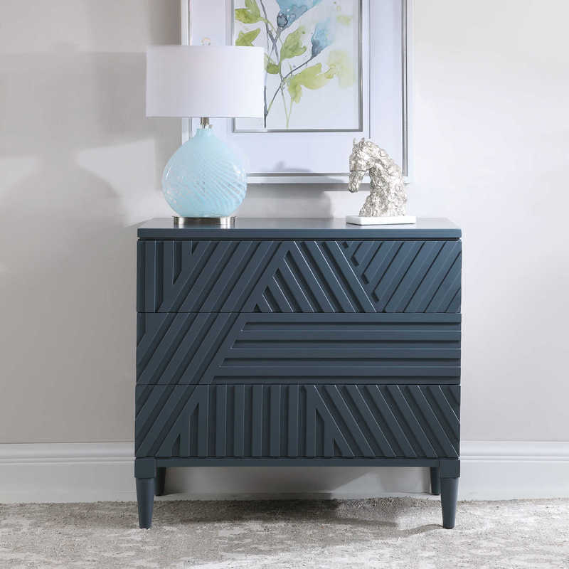 The Colby chest from Uttermost is a great choice when your Chattanooga bedroom needs a pop of color!
