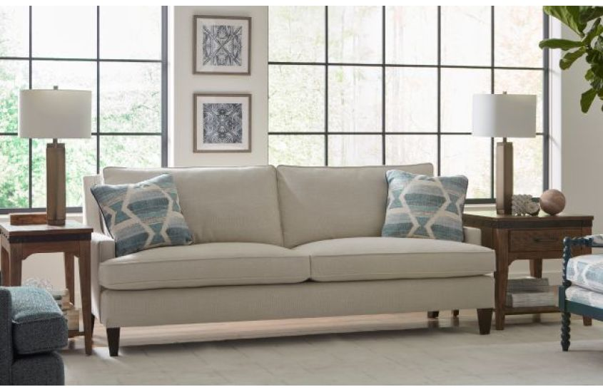 Modern in style and highly versatile, a two cushion sofa with angular lines is another classic silhouette perfect for your Chattanooga living room.