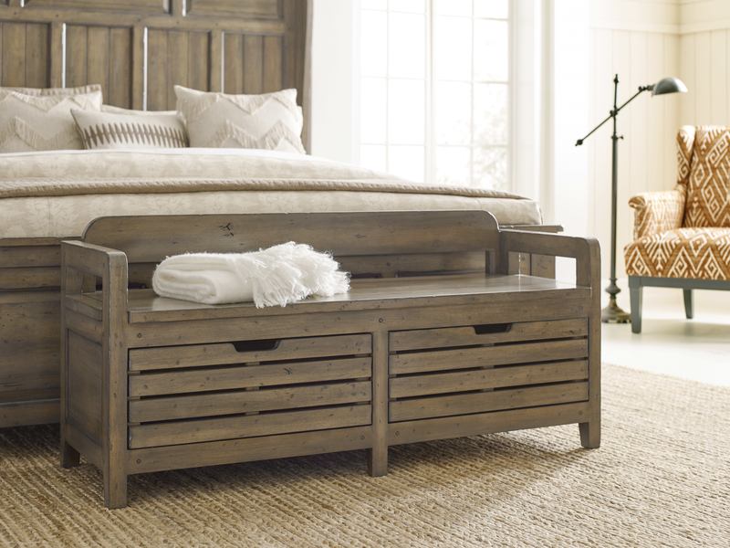 Update your Chattanooga bedroom furniture with a handy and stylish storage bench like this piece by Kincaid.