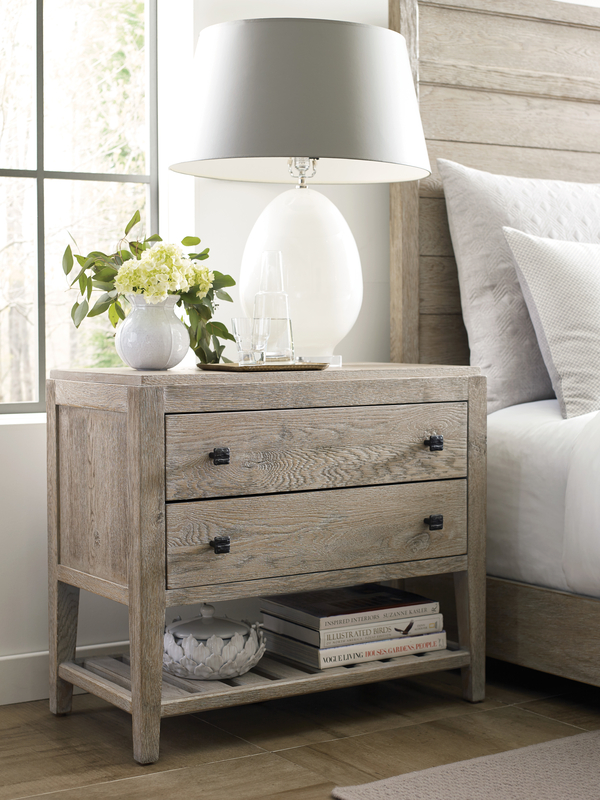 Add a multi-purpose nightstand to your Chattanooga bedroom furniture lineup for smart storage that also looks chic.