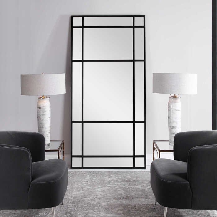 Another way to up your Chattanooga interior design game is with an over-sized mirror like this one by Uttermost furniture.